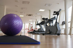 Health club. Ball and treadmills in the health club Stock Photo