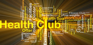 Health club background concept glowing Stock Image