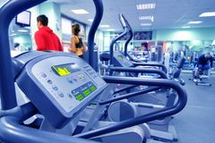 Health club in blue Stock Photos