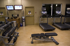 Health club hotel gym room royalty free stock images