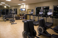 Health club hotel gym room Royalty Free Stock Photos