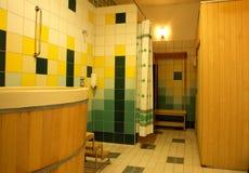 Health club shower room Royalty Free Stock Photo