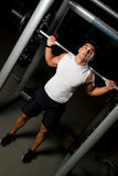 Health Club Workout Squat Rack Stock Image
