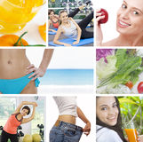 Health collage Stock Images