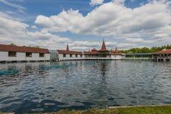 the termal lake Heviz, Hungary stock photography