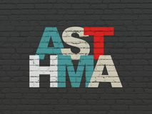 Health concept: Asthma on wall background Stock Photo