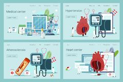 Health concept of hypotension and hypertension royalty free illustration