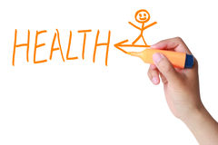 Health concept. Drawn with a marker isolated on white Royalty Free Stock Photos