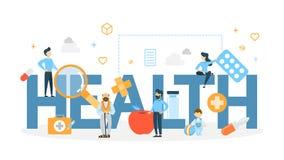 Health concept illustration. stock illustration