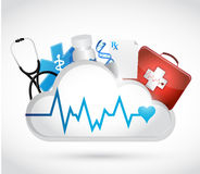 Health concept and lifeline illustration Royalty Free Stock Images