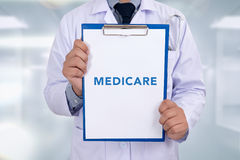 Health concept - MEDICARE royalty free stock photography