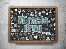 Health concept: Miracle Drug on School board background Royalty Free Stock Photos