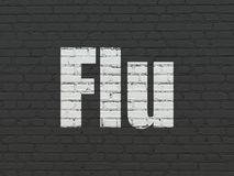 Health concept: Flu on wall background Stock Image