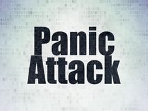 Health concept: Panic Attack on Digital Data Paper background. Health concept: Painted black word Panic Attack on Digital Data Paper background Royalty Free Stock Images
