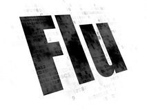 Health concept: Flu on Digital background Royalty Free Stock Photos