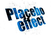 Health concept: Placebo Effect on Digital background. Health concept: Pixelated blue text Placebo Effect on Digital background Royalty Free Stock Images
