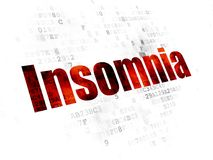 Health concept: Insomnia on Digital background. Health concept: Pixelated red text Insomnia on Digital background Stock Photos