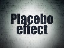 Health concept: Placebo Effect on Digital Data Paper background. Health concept: Painted black word Placebo Effect on Digital Data Paper background Stock Photos