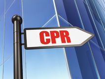 Health concept: sign CPR on Building background Stock Image