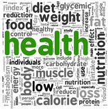 Health concept in tag cloud Stock Photos