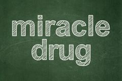 Health concept: Miracle Drug on chalkboard background Royalty Free Stock Images