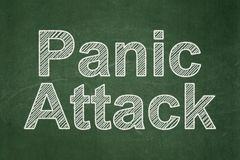 Health concept: Panic Attack on chalkboard background. Health concept: text Panic Attack on Green chalkboard background Royalty Free Stock Images