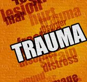 Health concept: Trauma on the Yellow Wall . stock illustration