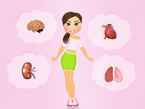 Health conscious concept sporty woman Stock Images
