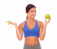 Health-conscious pretty woman looking at you Stock Image