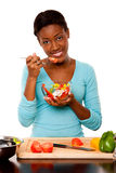 Health Conscious young woman Royalty Free Stock Photos