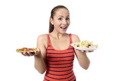 Health Conscious Young Woman Stock Images