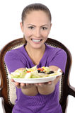Health Conscious young woman Stock Photography