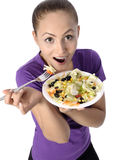 Health Conscious young woman Stock Photo