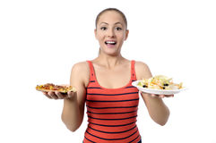 Health Conscious young woman Royalty Free Stock Photography