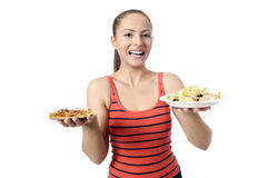 Health Conscious young woman Royalty Free Stock Image
