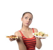 Health Conscious young woman Royalty Free Stock Images
