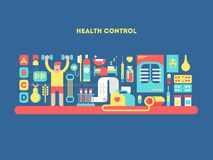Health control design concept Royalty Free Stock Image