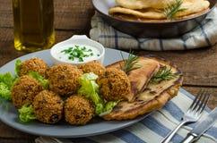 Health crunchy falafel Stock Photography