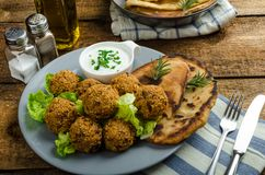Health crunchy falafel Stock Images