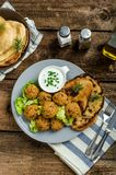 Health crunchy falafel Stock Photos
