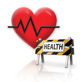 Health Danger Warning. Digital Illustration concept Warning of Health Danger Stock Photography