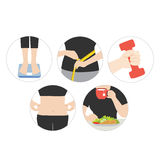 Health diet and obesity. Vector illustration of health diet and obesity Royalty Free Illustration