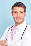 Health doctor insurance. Medical person for health insurance consulting Stock Photos