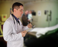Health Doctor Writing Prescription Stock Photography