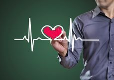 Health. Drawing symbols heart health stock images