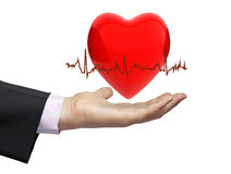 Health electrocardiogram concept Royalty Free Stock Images