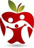 Health family logo. Illustration art of a health family logo with apple shape Stock Photo