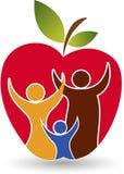 Health family logo. Illustration art of a health family logo with  background Royalty Free Stock Photo