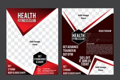 Health Fiitness Club Flyer Template Stock Photography