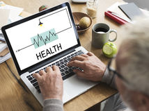 Health Fit Treatment Wellness Concept. Health Fit Treatment Wellness Heartbeat royalty free stock photography